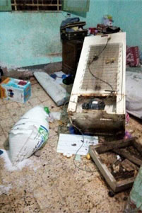 Damage in the home of Fady Yousef's parents - Photo: Facebook / Nader Shukry