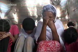 Eritrean family praying - Photo: Release International www.releaseinternational.org