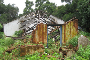 A burned home, 2008
