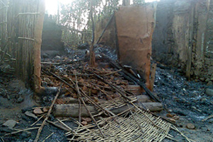 A burned home in the 2008 attacks - Photo: Mangalorean.com