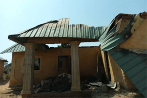 One of many buildings destroyed in the ongoing violence in Nigeria. - Photo: World Watch Monitor www.worldwatchmonitor.org