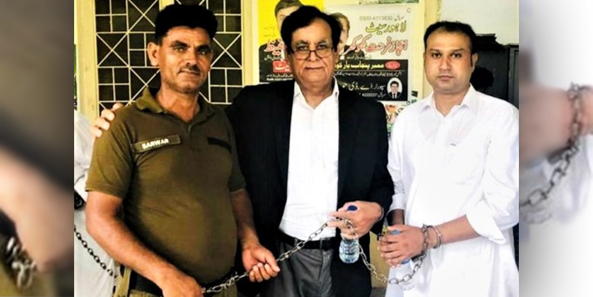 Asif Pervaiz (right) and his attorney (center) - Photo: Morning Star News
