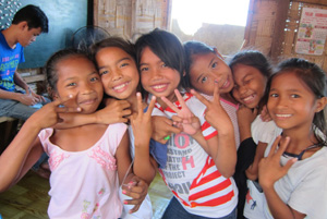 A group of Filipino girls
