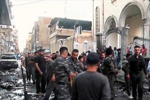 Bomb attack on Syrian-Orthodox church in Qamishli - Photo: Voice of America www.voanews.com/